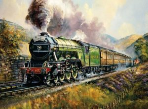 Flying Scotsman wooden jigsaw puzzle wentworth
