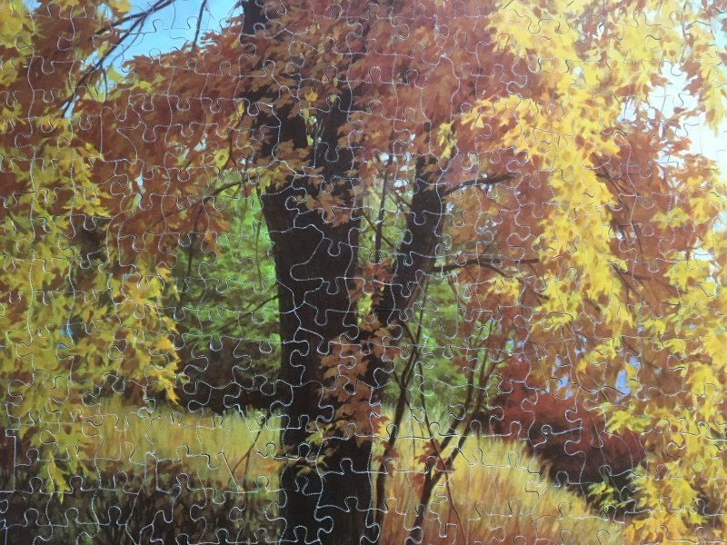 'Rhapsody of Fall' Victory Gold Box Jigsaw Puzzle detail