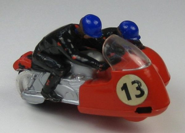 Vintage Scalextric B1 Typhoon Motorcycle and Sidecar