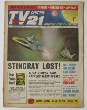 Vintage TV Century 21 comic 1960's Issue 1