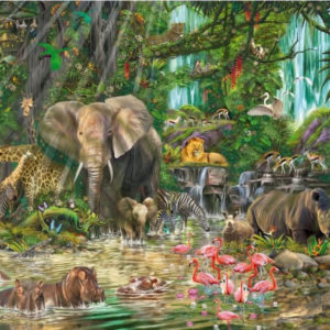 'African Experience' Wentworth Wooden Jigsaw Puzzle