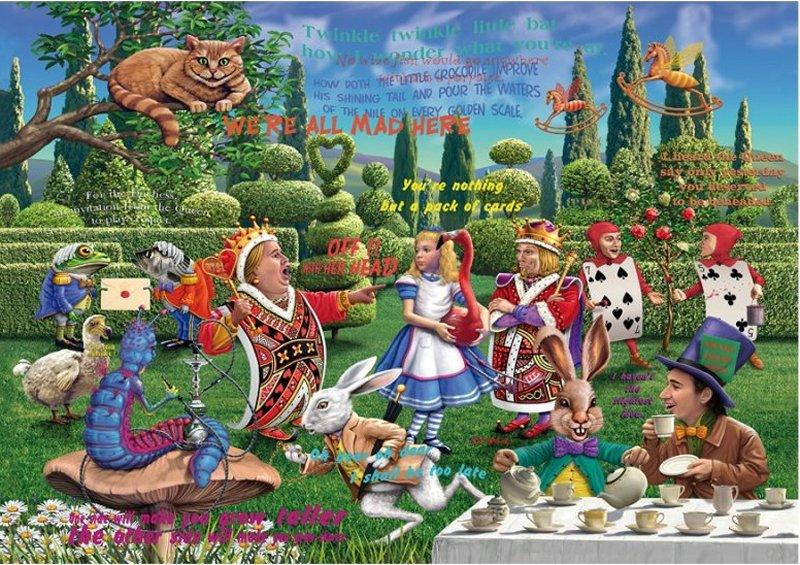 'Alice in Wonderland' Wentworth Wooden Jigsaw Puzzle