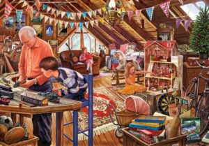 'Attic Playtime' Wentworth Wooden Jigsaw Puzzle