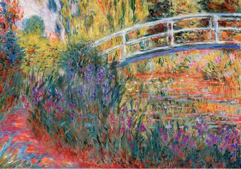 'Le Pont Japonais by Monet' Wentworth Wooden Jigsaw Puzzle