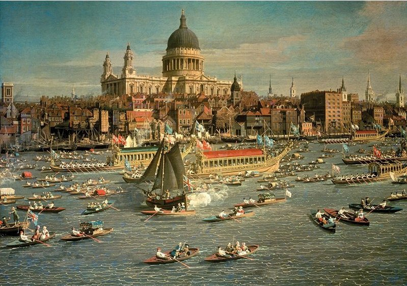 'River Thames, London by Canaletto' Wentworth Wooden Jigsaw Puzzle