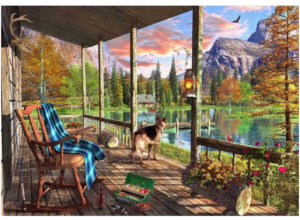 'Mountain Cabin' Wentworth Wooden Jigsaw Puzzle