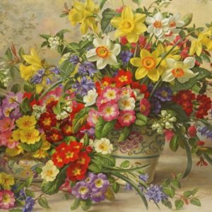 'SPRING FLOWERS' Wentworth Wooden Jigsaw Puzzle