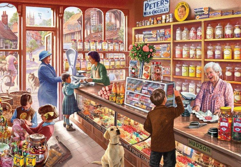 'The Sweet Shop' Wentworth Wooden Jigsaw Puzzle