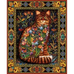 'Tapestry Cat' Wentworth Wooden Jigsaw Puzzle