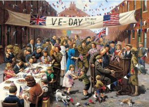 'V.E. DAY CELEBRATION' (Second World War) Wentworth Wooden Jigsaw Puzzle