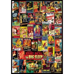 'Vintage Noir Film Posters' Wentworth Wooden Jigsaw Puzzle