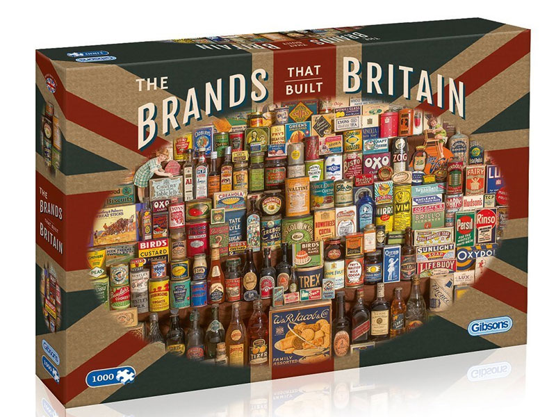 'Brands That Built Britain' Jigsaw Puzzle (1000 pcs) by Gibsons