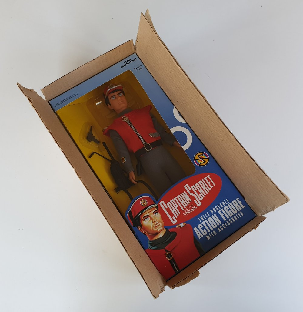"Captain Scarlet 12"" (30cm) Action Figure by Vivid Imaginations (1993)"