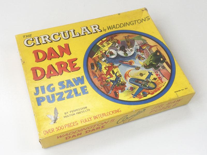 Dan Dare Circular Jigsaw Puzzle Waddingtons 1950s 1960s