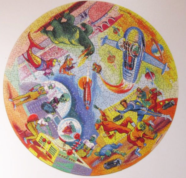 DAN DARE Circular Jigsaw Puzzle by Waddingtons 1950s