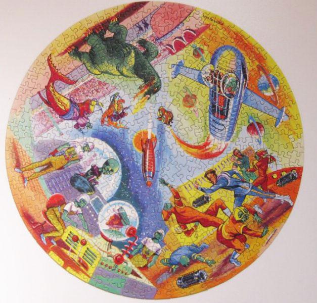 DAN DARE Circular Jigsaw Puzzle by Waddingtons 1950s
