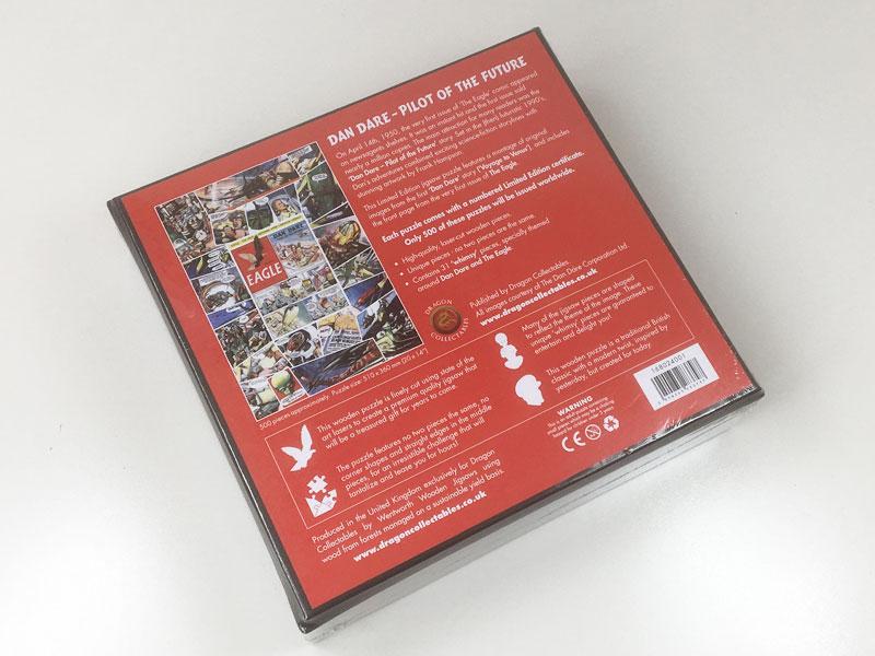 'Dan Dare' Collector's Wooden Jigsaw Puzzle box
