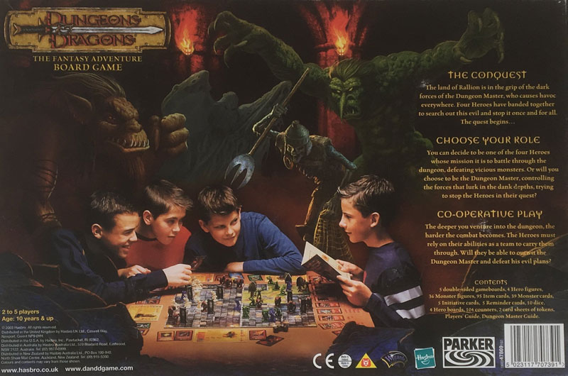 'Dungeons & Dragons' Fantasy Adventure board game 2003 Parker