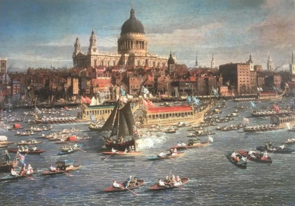 'River Thames, London by Canaletto' Wentworth Wooden Jigsaw Puzzle 1000 pieces
