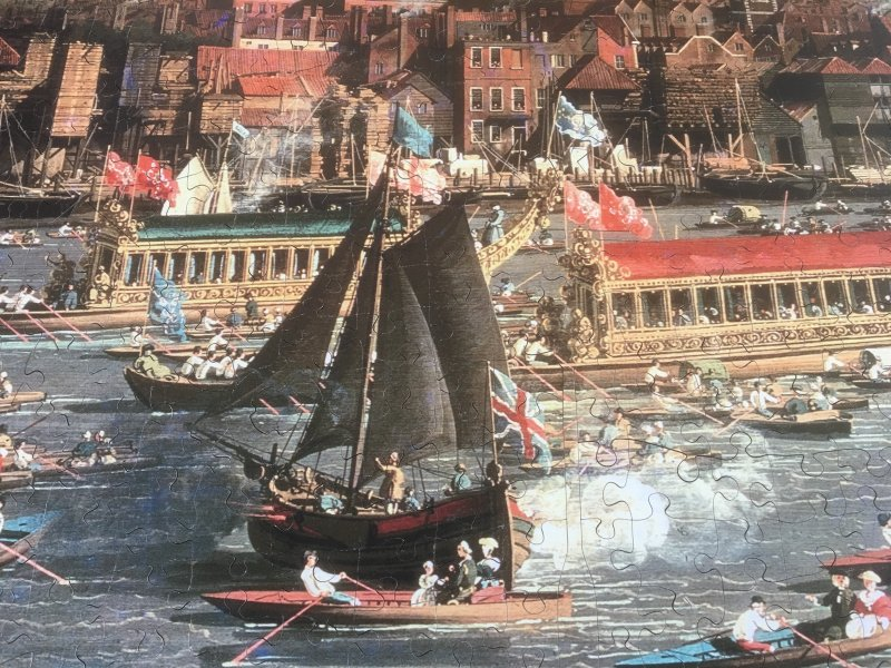 'River Thames, London by Canaletto' Wentworth Wooden Jigsaw Puzzle 1000 pieces detail