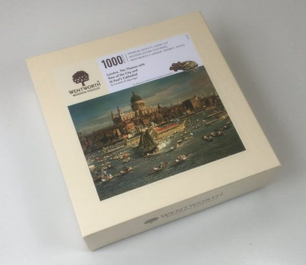 'River Thames, London by Canaletto' Wentworth Wooden Jigsaw Puzzle 1000 pieces box