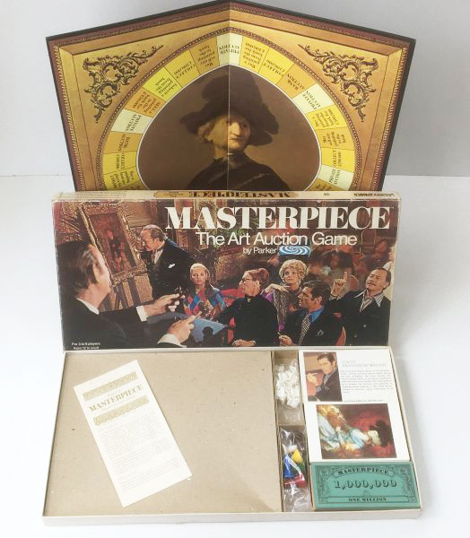 Vintage 'Masterpiece' board game by Parker 1970's