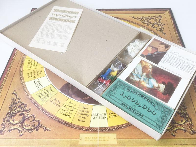Vintage 'Masterpiece' board game 1970's contents