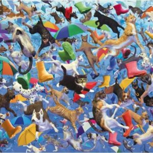'Raining Cats & Dogs' Wentworth Wooden Jigsaw Puzzle