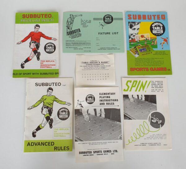 Vintage SUBBUTEO CONTINENTAL CLUB EDITION Set 1970's