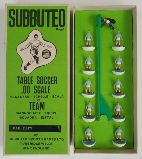 Vintage Subbuteo HW Team 5 Manchester City Lazio Napoli 1970's