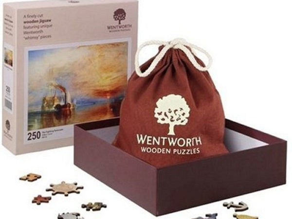 Wentworth Wooden Jigsaw Puzzle Box, Bag and Pieces
