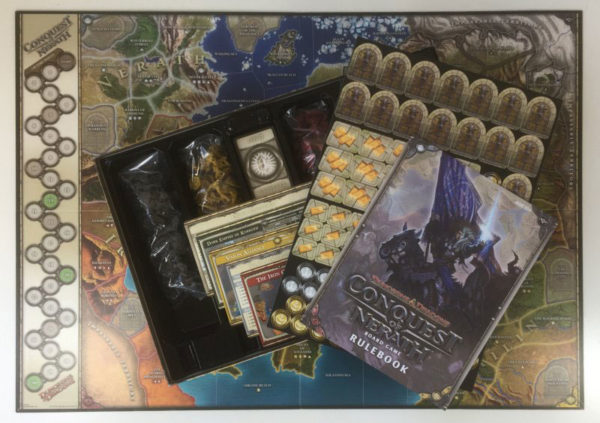 'CONQUEST OF NERATH' Dungeons and Dragons Board Game contents
