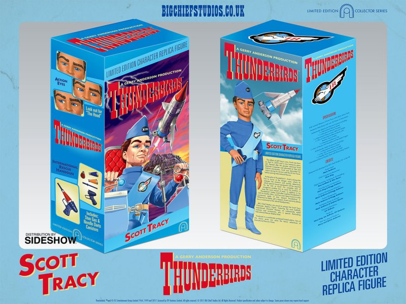 SCOTT TRACY Thunderbirds Collectable Figure by Big Chief Studios box