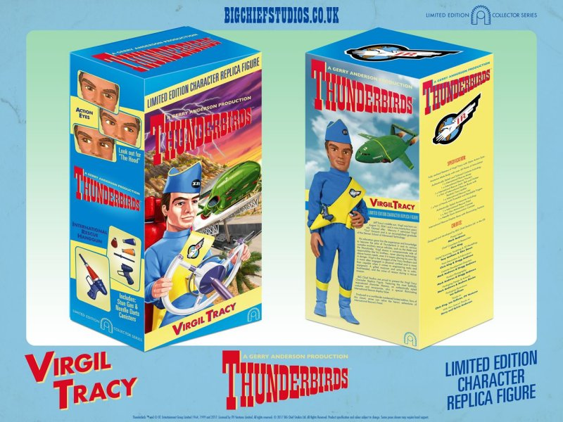 VIRGIL TRACY Thunderbirds Collectable Figure by Big Chief Studios BOX