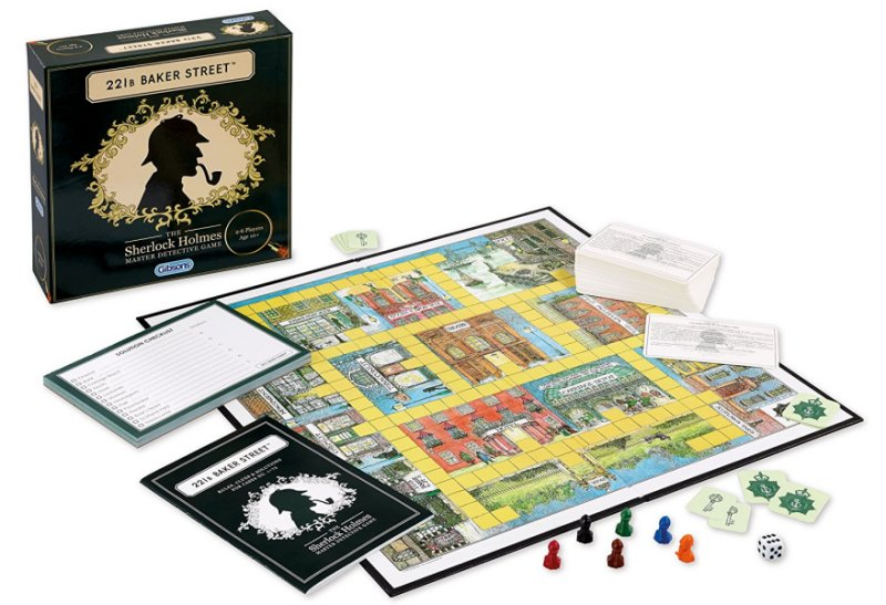 221b Baker Street Board Game contents