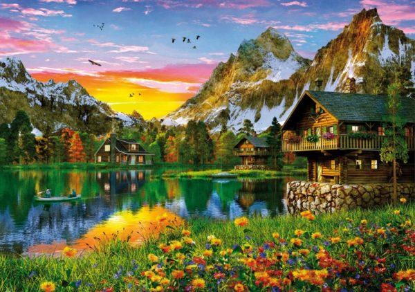 'ALPINE LAKE' Wentworth Wooden Jigsaw Puzzle
