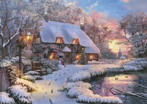 'CANDLELIGHT COTTAGE' Wentworth Wooden Jigsaw Puzzle