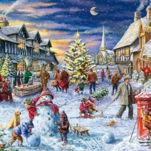 CHRISTMAS VILLAGE Wentworth Wooden Jigsaw Puzzle