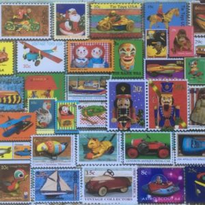'TOY STAMPS' Wentworth Wooden Jigsaw Puzzle
