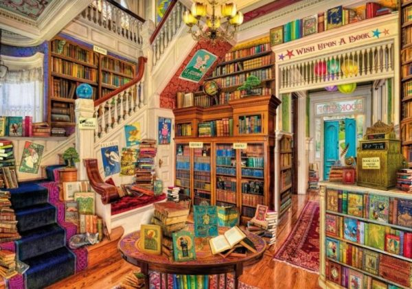 'WISH UPON A BOOKSHOP' Wentworth Wooden Jigsaw Puzzle