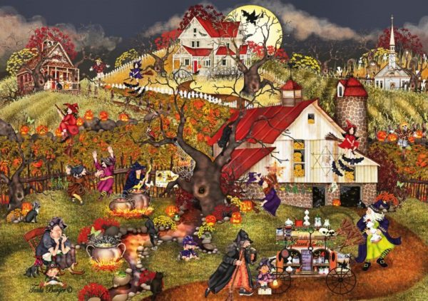 'WITCHES OF HAUNTSVILLE' (HALLOWEEN) Wentworth Wooden Jigsaw Puzzle