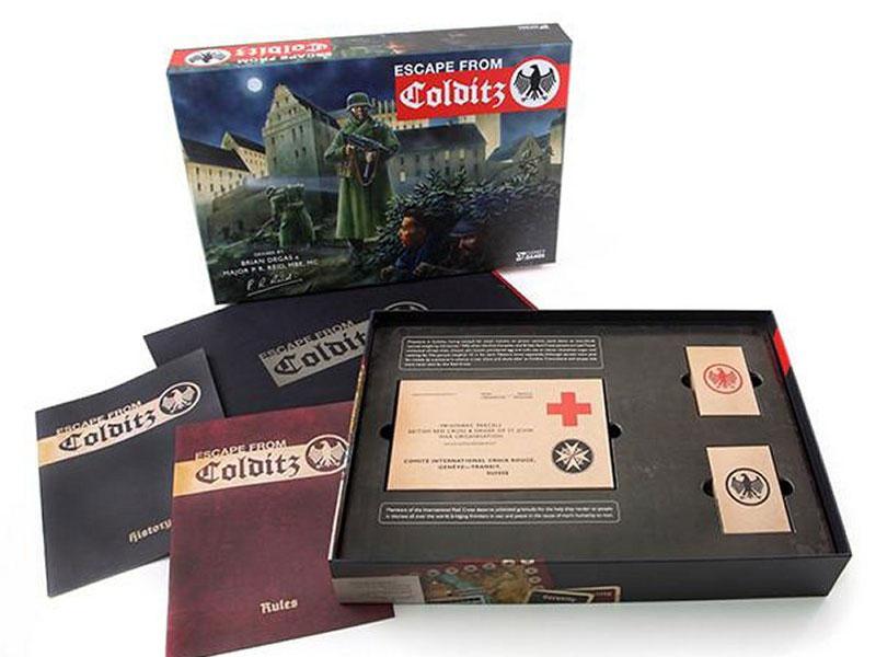 ESCAPE FROM COLDITZ Board Game Anniversary Edition open