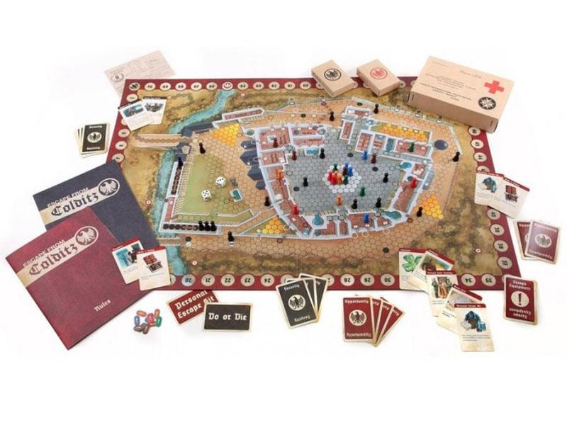 ESCAPE FROM COLDITZ Board Game Anniversary Edition contents