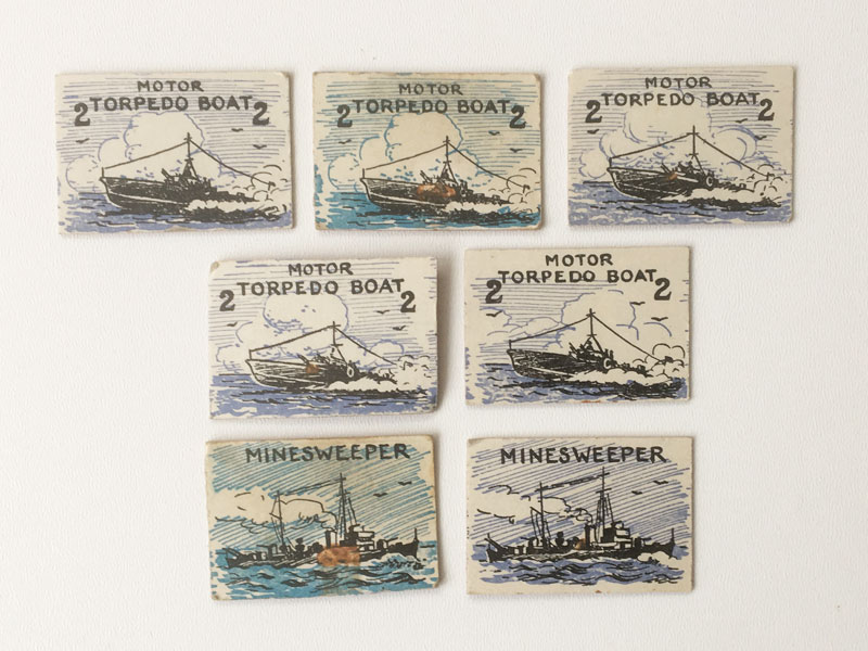 DOVER PATROL Board Game pieces1940s 1950s Gibson