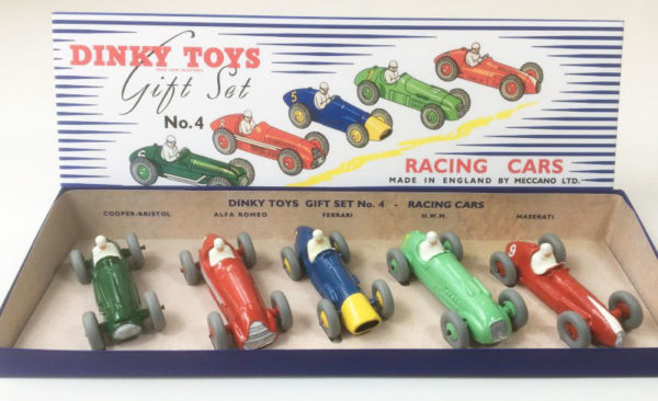 Vintage Dinky Gift Set 4 Racing Cars