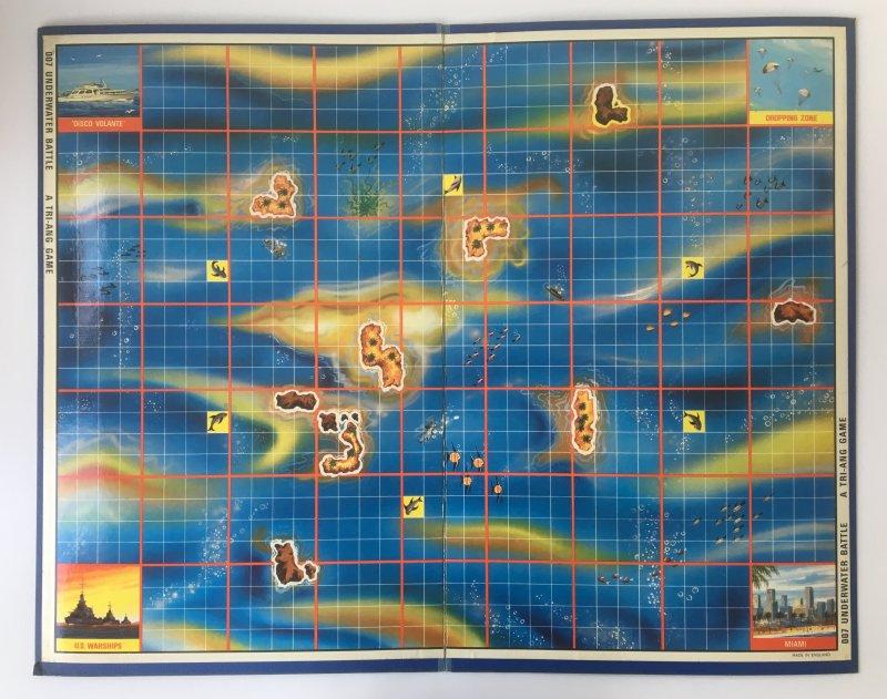 JAMES BOND '007 UNDERWATER BATTLE' Board Game Triang 1960's board