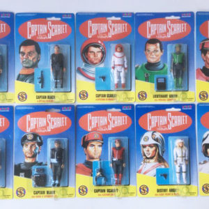Vintage Captain Scarlet action figures (complete set) Vivid Imaginations 1993