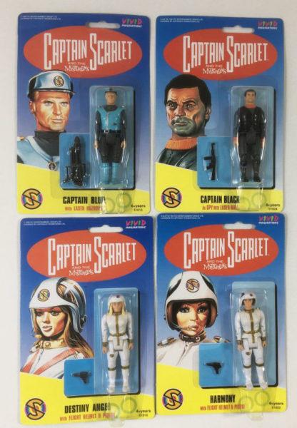 Vintage Captain Scarlet action figures Vivid Imaginations 1993