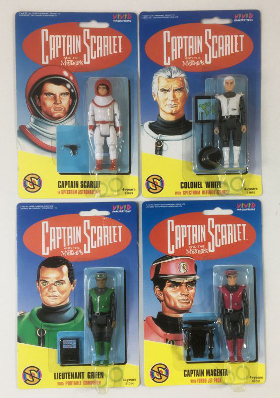 Vintage Captain Scarlet action figures Vivid Imaginations 1993