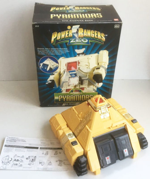 VINTAGE POWER RANGERS ZEO 'DELUXE PYRAMIDAS' Carrier Zord (Bandai 1996)